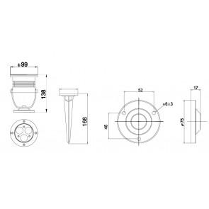 LED-IRIDE-9P-BCO Proiettore Cromo Led...