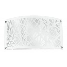 I-BATIK / AP - Applique Murale Moderne en Acier Blanc Abstrait Sculpté Décoration Applique E14