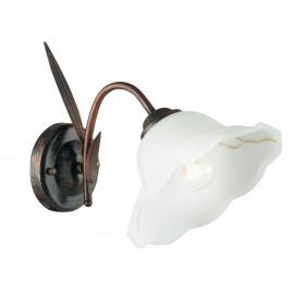 I-BYRON/AP RUG - Applique Metallo paralume Vetro Floreale Lampada da Parete Classica E27