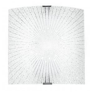 Applique quadrata con decoro a raggi con luci led 12 watt