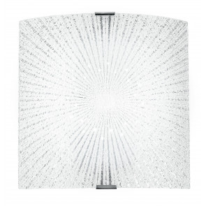 I-CHANTAL/AP - Applique Vetro Diamantato decoro Raggi Rettamgolare Led 12 watt Luce Naturale