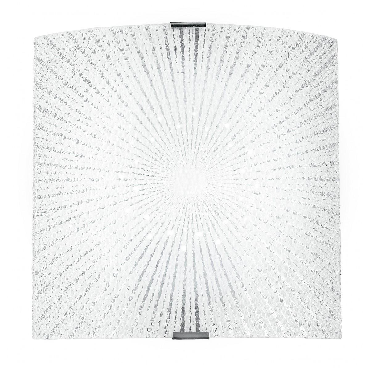 I-CHANTAL / AP - Applique en verre diamant avec décoration de rayons rectangulaires 12 watts à lumière naturelle