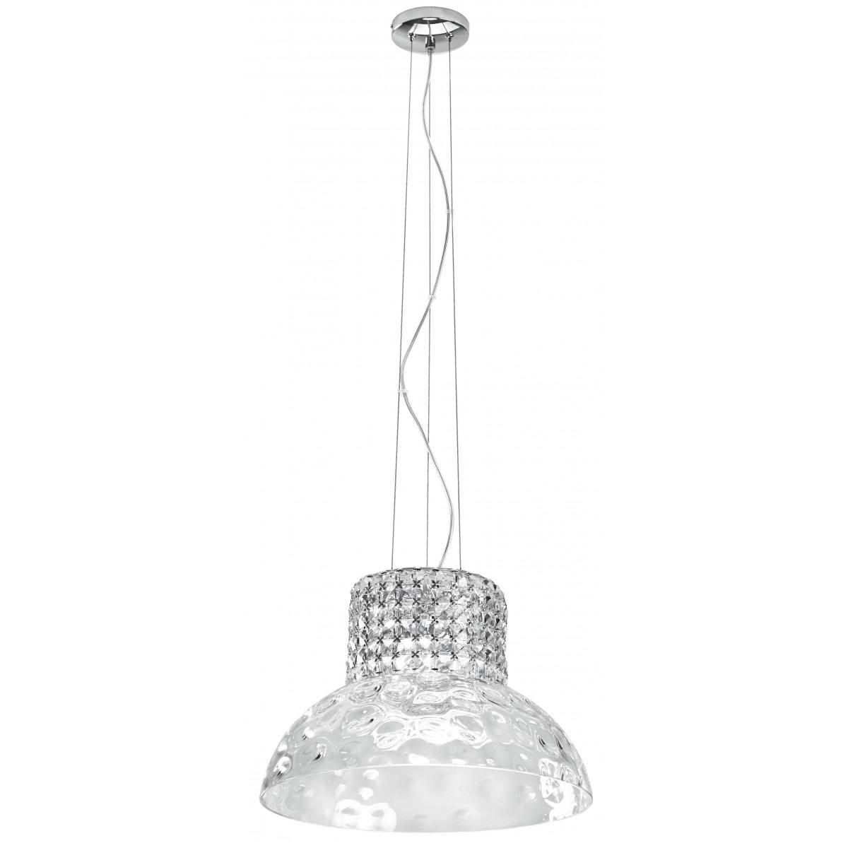 I-DANCE / S42 - Élégante suspension décorée de cristaux de verre K9, lustre moderne G9