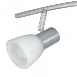 SPOT-MITO-S4 - Plafonnier élégant en couleur nickel avec quatre lumières 40 watts E14