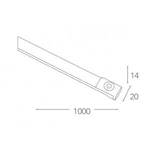 Barra led 100 cm 15 watt 4000 kelvin