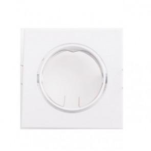 INC-REFLEX-Q-SM1 BCO - Ghiera Quadrata Orientabile Alluminio Bianco per Faretto a Incasso