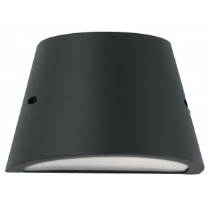 I-ORLANDO-AP - Applique Esterno Alluminio Nero diffusore Policarbonato Opale Tenuta Stagna E27
