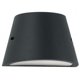 I-ORLANDO-AP - Applique murale extérieure en aluminium noir Diffuseur polycarbonate opale étanche E27