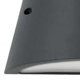 Structure en aluminium anthracite avec diffuseur en polycarbonate opale Orlando Line