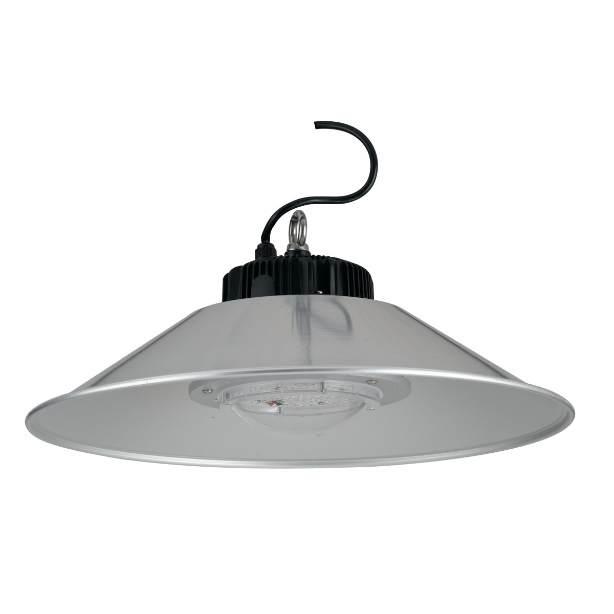 LED-FUTURA-100W - Lampadario a gancio e luce led trasparente