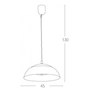 LED-DOLOMITE-S45 - Lampadario a...