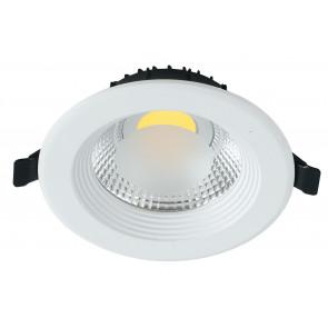 INC-LYRA-10C - Spot encastré rond en placoplâtre, aluminium blanc, projecteur 10 watts, lumière chaude