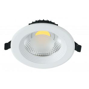 INC-LYRA-10F - Spot encastré rond en faux plafond en aluminium blanc à lumière froide de 10 watts