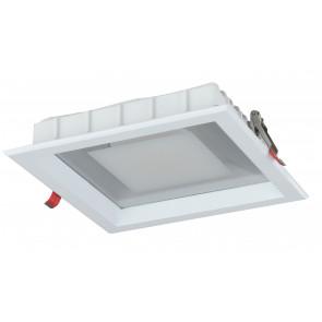 INC-MARK-10C - Faretto a incasso led quadrato di colore bianco 10 watt 3200 kelvin