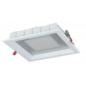 INC-MARK-10F - Spot encastré carré blanc satiné en aluminium moulé sous pression à lumière froide de 10 watts