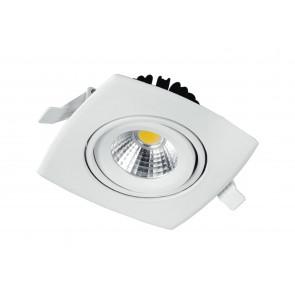 INC-KLIPPE-8C - Faretto a incasso orientabile con luce led di colore bianco 8 watt 3200 kelvin