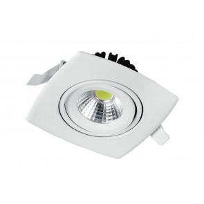 INC-KLIPPE-8F - Faretto Bianco Orientabile Alluminio Quadrato Incasso Led 8 watt Luce Fredda
