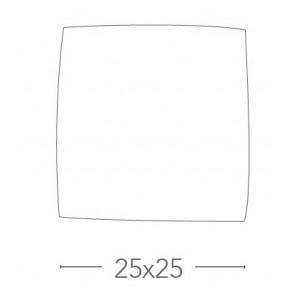 Le plafonnier en verre blanc carré...