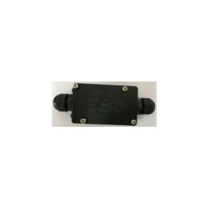 CONNECTBOX-IP68-2 - Boîte de connexion étanche bipolaire noire
