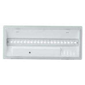 LED-HELP-12 - Plafonnier rectangulaire avec éclairage à LED de secours