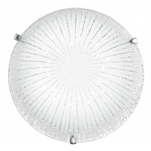I-CHANTAL/PL30 - Plafoniera Moderna decoro Raggi Tonda Vetro Diamantato Led 15 watt Luce Naturale