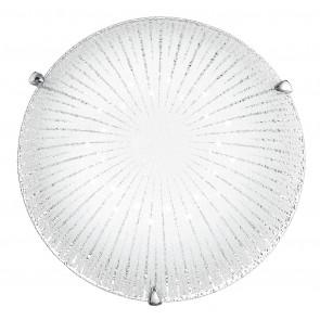 I-CHANTAL / PL30 - Plafonnier moderne avec décoration rayons ronds Verre diamant Led 15 watts Lumière naturelle
