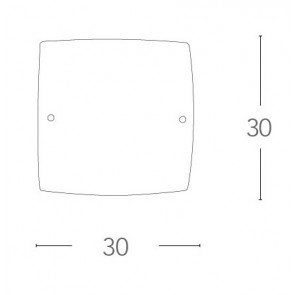 I-UNIVERSE / PL30 - Plafonnier carré...