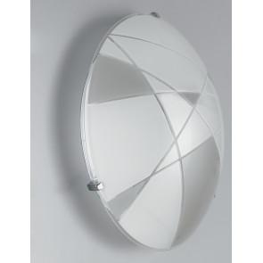 I-MAXIMA / PL30 - Plafonnier moderne blanc et gris tourterelle led 18 watts