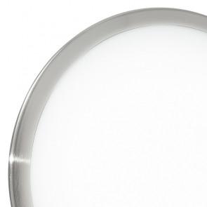 Plafonnier rond blanc avec cadre en...