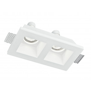 INC-GHOST-Q2 - Spotlight Two Lights Plaster Retractable Plaster Vernicegile Recessed Plasterboard GU10