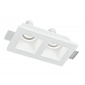 INC-GHOST-Q2 - Spotlight Two Lights Plaster Retractable Plaster Vernicegile Recessed Plasterboard GU10