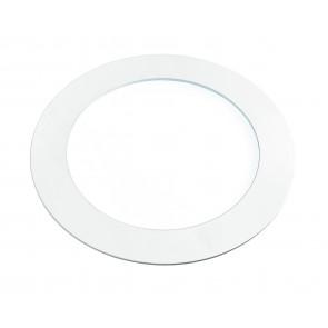 INC-SLIM / 8WF BCO - Plaque de plâtre encastrée en aluminium blanc à spot rond à lumière froide de 8 watts