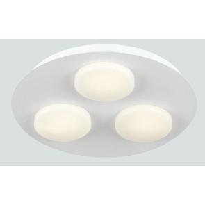 LED-MADISON-R3 - Plafoniera Tonda 3 luci Metallo Acrilico Lampada Moderna Led 18 watt Luce Calda