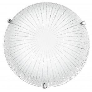 I-CHANTAL/PL40 - Plafoniera decoro Raggi Tonda Vetro Diamantato Lampada Led 24 watt Luce Naturale