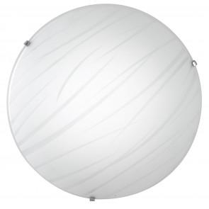 I-GOGAIN / PL40 - Plafonnier rond Lignes de décoration en verre Lampe Led Satin 24 watts Natural Light