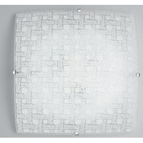 I-PAMELA / PL40 - Plafonnier avec Verre Diamant Tissage carré Lampe Led 24 watts Lumière naturelle