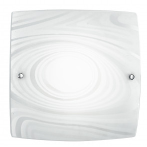 I-UNIVERSE / PL40 - Plafonnier Lampe moderne avec décoration Satin Cercles Carré Verre Led 24 watt Natural Light