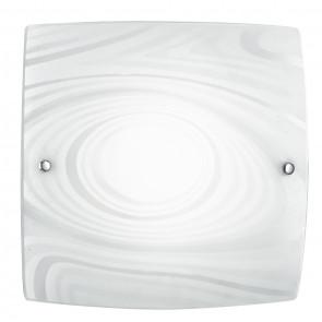 I-UNIVERSE / PL40 - Plafonnier Lampe moderne avec décoration Satin Cercles Carré Verre Led 24 watt Natural Light