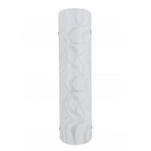 I-JASMINE/AP40 - Applique Vetro Bianco Disegno Onde Moderna Led 16 watt Luce Naturale