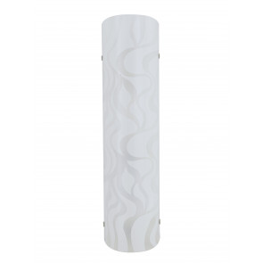 I-JASMINE / AP40 - Lampe Murale en Verre Blanc Design Ondes Moderne Led 16 W Lumière Naturelle