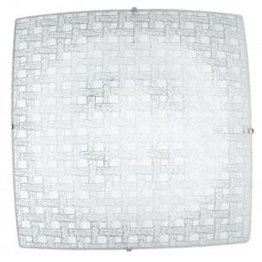 I-PAMELA/PL30 - Plafoniera Quadrata Moderna Vetro Diamantato Intreccio Led 18 watt Luce Naturale