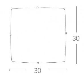 Plafonnier carré moderne avec verre...