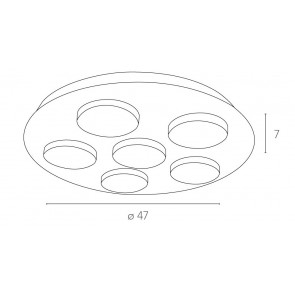 LED-MADISON-R6 - Plafonnier carré à...