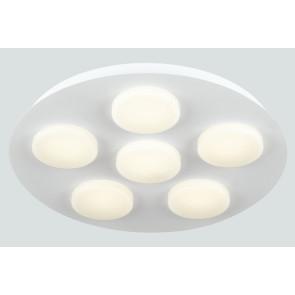 LED-MADISON-R6 - Plafoniera Sei Luci Quadrata Metallo Acrilico Lampada Moderna Led 36 watt Luce Calda
