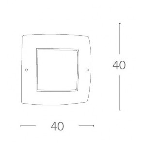 Plafonnier carré classique en verre...