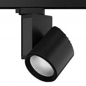 LED-TRAIN-B-40WC - Faretto per binario moderno di colore nero e con luce led 40 watt 3200 kelvin