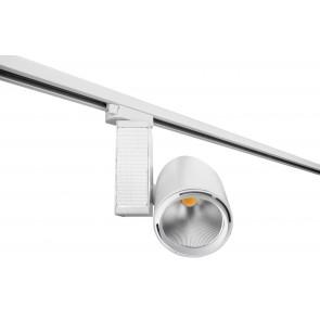 LED-TRAIN-W-40WC - Faretto per binario moderno di colore bianco e con luce led 40 watt 3200 kelvin