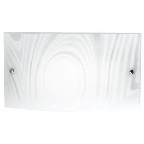 I-UNIVERSE / AP3520 - Cercles de décoration rectangulaires en verre appliques satiné, lumière naturelle à DEL 18 watts