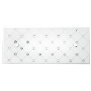 I-FLORIAN/AP3515 - Applique a led di colore bianco con motivi decorativi a rombi 16 watt