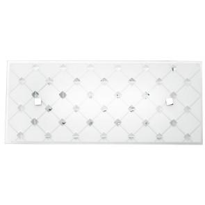 I-FLORIAN / AP3515 - Applique murale à LED blanche avec motifs décoratifs losange 16 watts